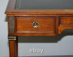 Vintage Fruitwood Leather Topped Extending Bureau De Plat Desk Writing Table