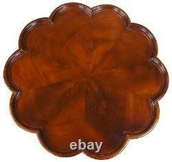 Vintage George III Chippendale Style Mahogany Pie Crust Side Table Ball Claw 29