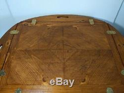 Vintage LANE Chippendale Butler Coffee Table with Drop Leaf Sides 1117 30