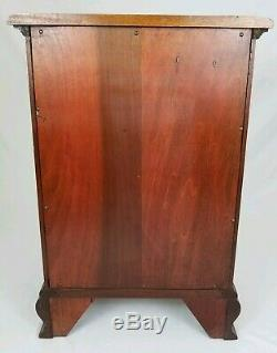 Vintage Mahogany Nightstand End Table Thread Cabinet Chippendale Federal Kling