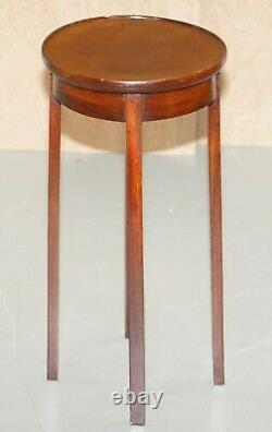 Vintage Mahogany Side Table Can Be Used As Plant Jardiniere Or For Sculptures