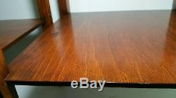 Vintage Mid Century Pair of Wooden End Tables Chippendale Style
