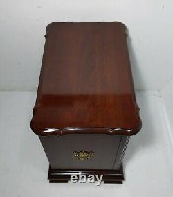 Vintage Pennsylvania House Cherry Wood Bachelor Chest Nightstand Table Drawers