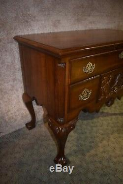 Vintage Pennsylvania House Solid Cherry Chippendale Style Lowboy