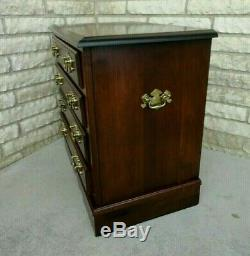 Vintage Solid Cherry Chippendale Style Bachelor Chest