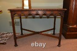 Walnut Chippendale Rectangular Table Server By Banks Coldstone Company