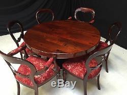 William IV Rosewood Dining Set Profesionally Hand French Polished