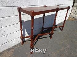 Wood Sofa Table Console Faux Bamboo Chinoiserie Chinese Chippendale Traditional