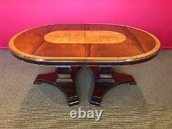 10.4ft Designer Regency Style Acajou / Burr Ash Table À Manger Français Poli