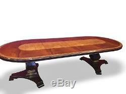 10.4ft Designer Style Régence Acajou / Burr Ash Table À Manger Français Poli