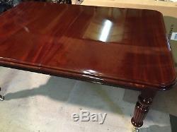 12.5ft Harrods Designer Table En Acajou Cubain De Style Régence Pro French Poli