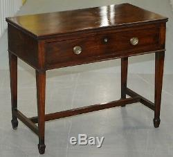 1790 Gillows Cubaine Acajou Bibliothèque Ecritoire Table Secretaire I Bramah Verrouillage