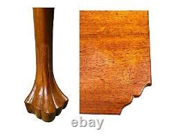 18ème C Antique Chipendale Walnut Drop Leaf Table De Dinage Des Feuilles Avec Feuille De Trifid Pa