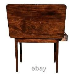 18ème C Table De Canapé Antique Chippendale Acajou / Table De Dressing