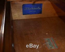1910 Antique Jb Van English Chippendale Acajou Paire Chevets Tables De Chevet