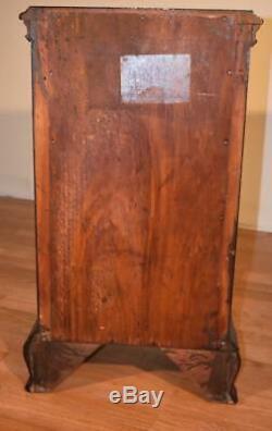 1910s Paire D'anglais Chippendale Chevets Acajou Tables De Chevet Lit