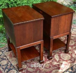 1920 Georgetown Galeries Chippendale Chevets Acajou Massif Tables De Chevet