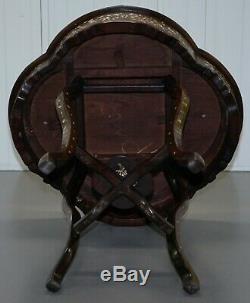 1924 Empire Britannique Exposition Chinoise Rosewood Et Nacre Marqueterie Table