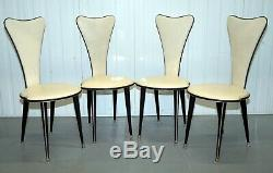 1950 Umberto Mascagni Credenza Manger Table / Chaises Buffet Aussi Disponible