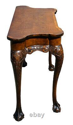 19ème Table De Console De Boule Et De Griffe De Chippendale De Chippendale Antique Chippendale