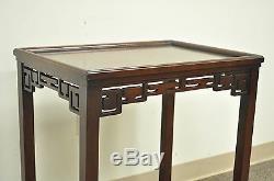 28 H Kittinger Buffalo Chinois Chippendale Vtg Acajou Côté Lampe De Table A574