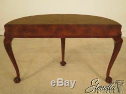 28161 Maitland Smith Console Acajou Gainé De Cuir Table