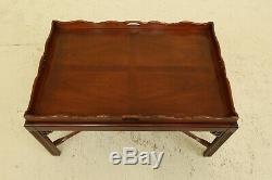 31787ec Style Chippendale Grand Acajou Butler Table Basse