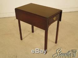 40048 Maison Tradition Chippendale Mahogany Pembroke Table