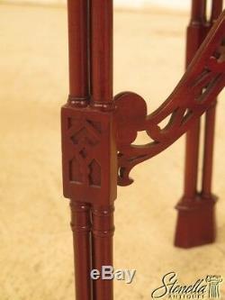 44176e Table D'appoint Chippendale Chinoise En Acajou Sculpté Ciselé