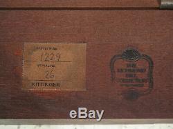 47339ec Kittinger Table À Thé Fretwork Percée En Acajou Chippendale