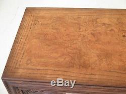 48370ec Henredon Moderne Chippendale Chêne Et Noyer Sofa Table