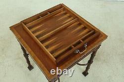 50886ec Quality Chippendale Acajou Flip Top Games Table