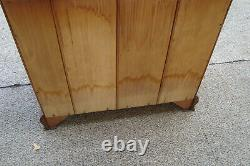 52564 Mahogany Serpentine Front 4 Draveer Bachelor Chest Nightstand Table