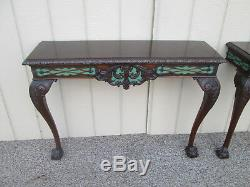 59004 Paire Chippendale Tablette Murale Console Table Stand