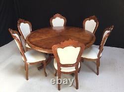 5ft William IV Style Burr Walnut Grand Table À Manger. Pro Français Poli