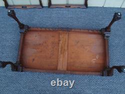 60517 Plateau Antique En Acajou Haut Table Basse Stand