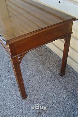 60526 Fasciée Acajou Chippendale Bibliothèque Table Bureau