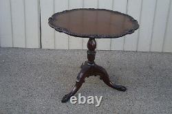60606 Charak Hand Made Solid Mahogany Tilt Top Lamp Table Qualité