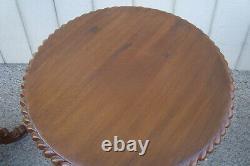 60888 Paire Lampe Acajou Massif Table Stand End Table De Chevet