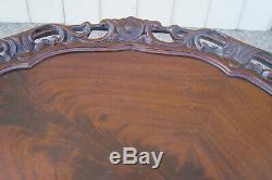 60943 Antique Mahogany Tilt Top Lamp Table Stand
