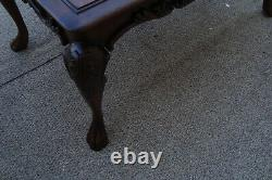 61070 Solid Ahogany Executive Desk Library Table Avec Tiroir