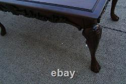 61070 Table De Bibliothèque De Bureau Exécutif En Acajou Massif Avec Tiroir