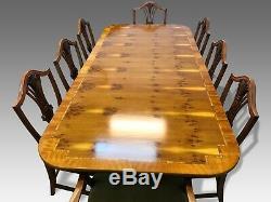 7.3ft Designer Style Art Déco Burr Yew Table À Manger Arbre Pro Brillant Français