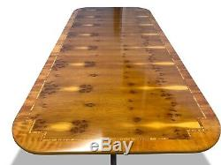 7.3ft Incroyable Style Art Déco Burr Yew Table À Manger Arbre Pro Brillant Français