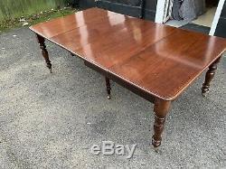8.6ft Opulent 1831 1901 Antique William IV Table En Acajou Cubain Brillant Français