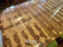 8.7ft Amazing Designer Art Deco Style Burr Yew Table À Manger D'arbre Français Poli