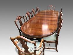 9ft Harrods Designer George III De Style Salle À Manger Ensemble En Acajou, Pro Poli Français