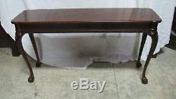Acajou Chippendale Pied Canapé Console Claw Table