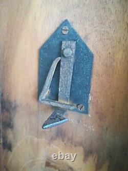 Acajou Tilt Haut Tripod Wine Table Lamp Side End Ornately Turned Column Antique