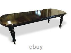 Amazing Regency Style Brésilien Acajou Table Professionnellement Poli Français